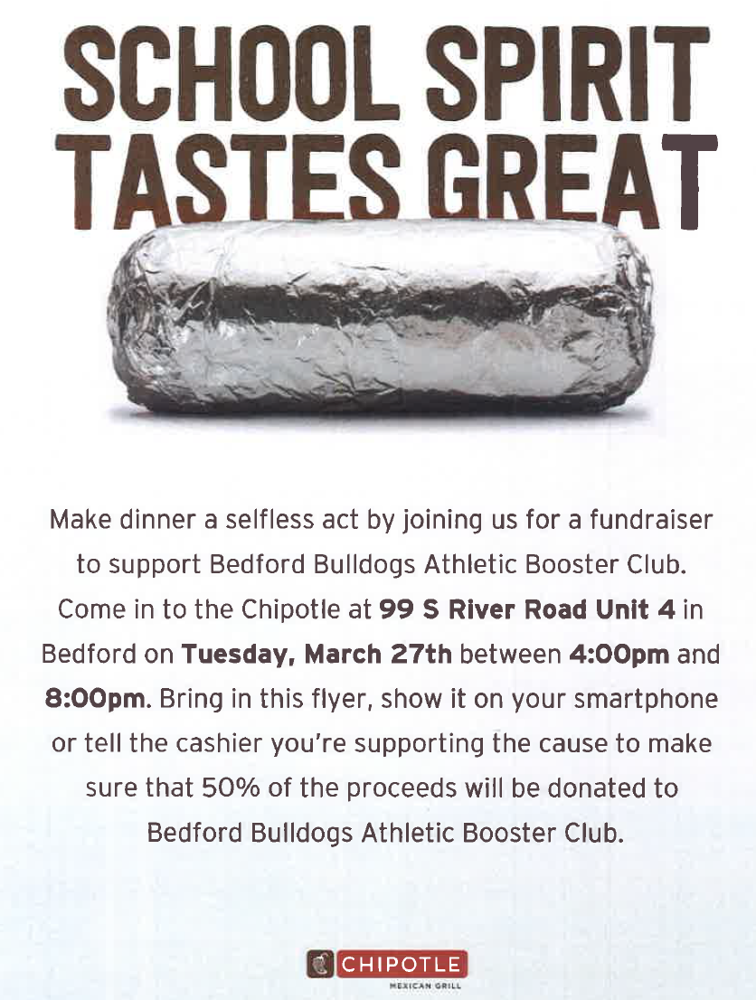 Chipotle Fundraiser Coming!